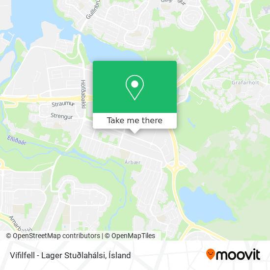 Vífilfell - Lager Stuðlahálsi map