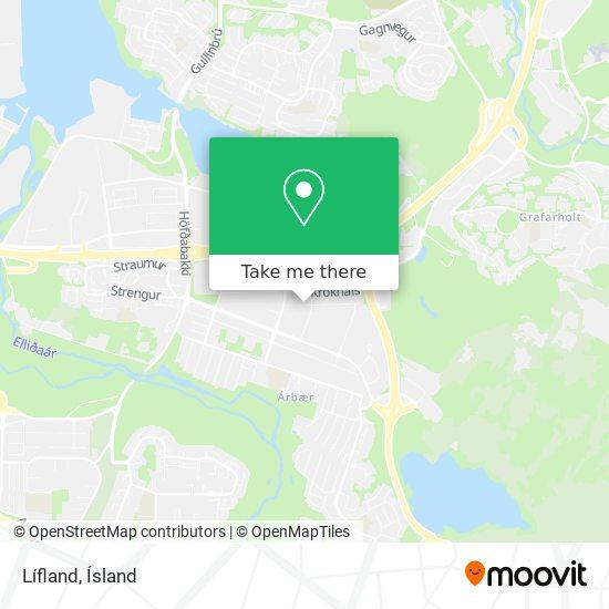 Lífland map