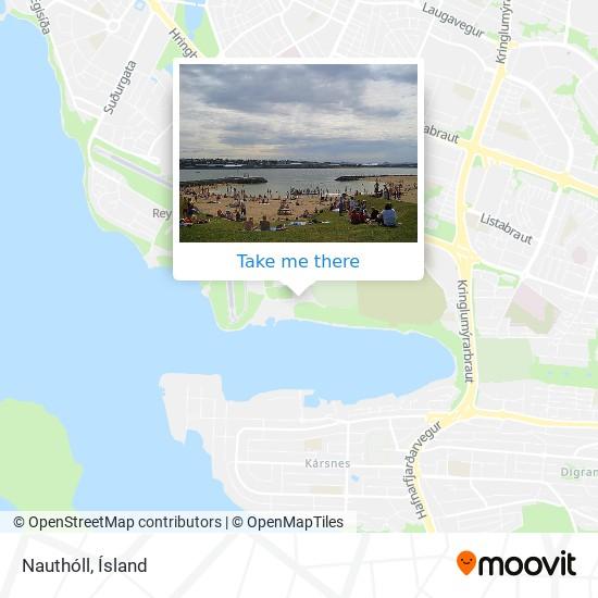 Nauthóll map