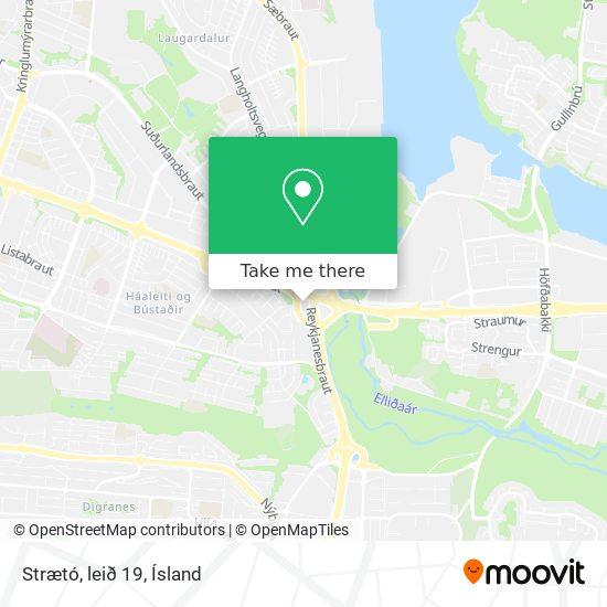 Strætó, leið 19 map