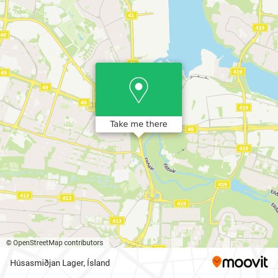 Húsasmiðjan Lager map