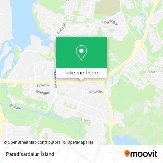Paradísardalur map