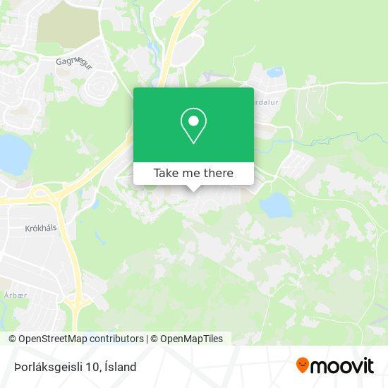 Þorláksgeisli 10 map