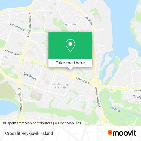 Crossfit Reykjavik map