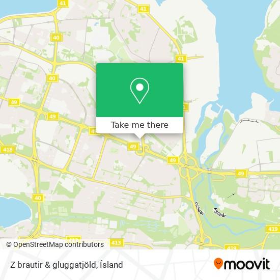 Z brautir & gluggatjöld map
