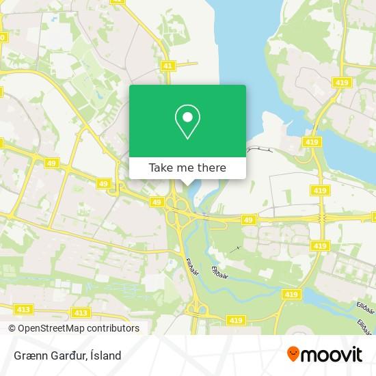 Grænn Garđur map