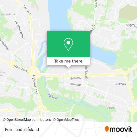 Fornilundur map