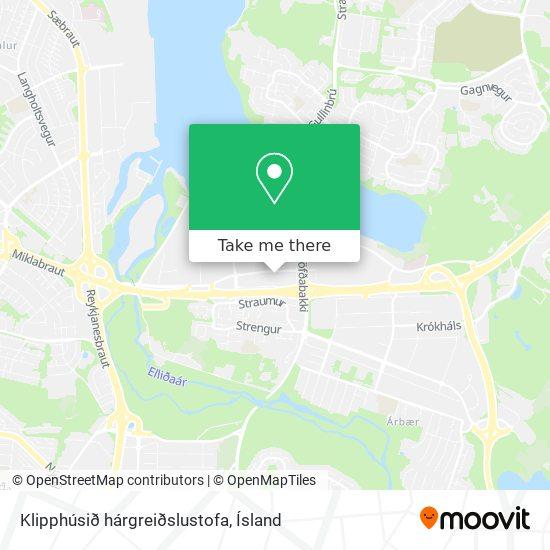 Klipphúsið hárgreiðslustofa map