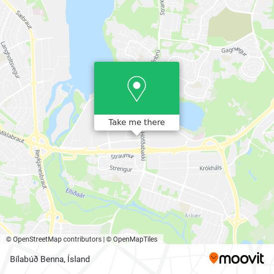Bílabúð Benna map