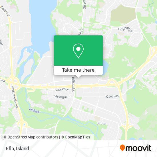 Efla map