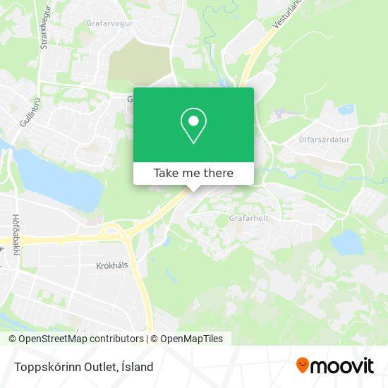Toppskórinn Outlet map