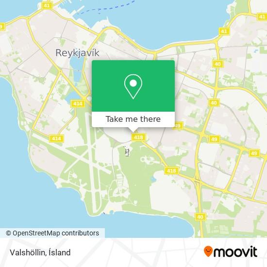 Valshöllin map