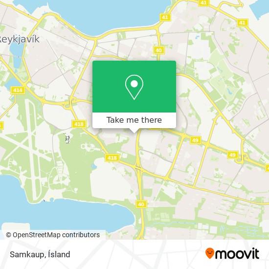 Samkaup map
