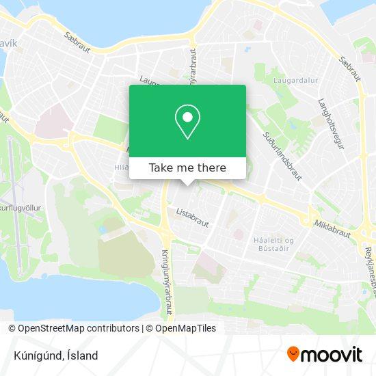 Kúnígúnd map