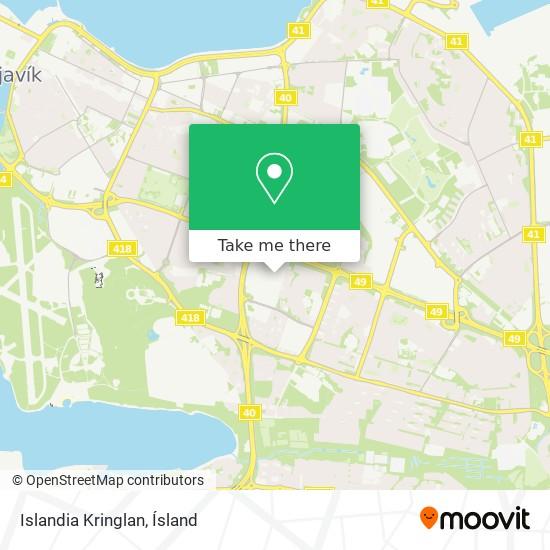 Islandia Kringlan map