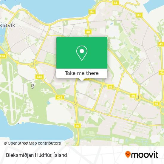 Bleksmiðjan Húdflúr map