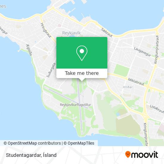 Studentagardar map