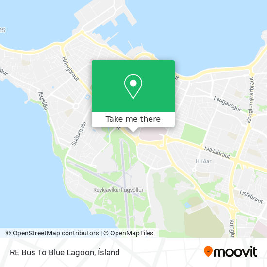 RE Bus To Blue Lagoon map