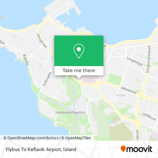 Flybus To Keflavik Airport map