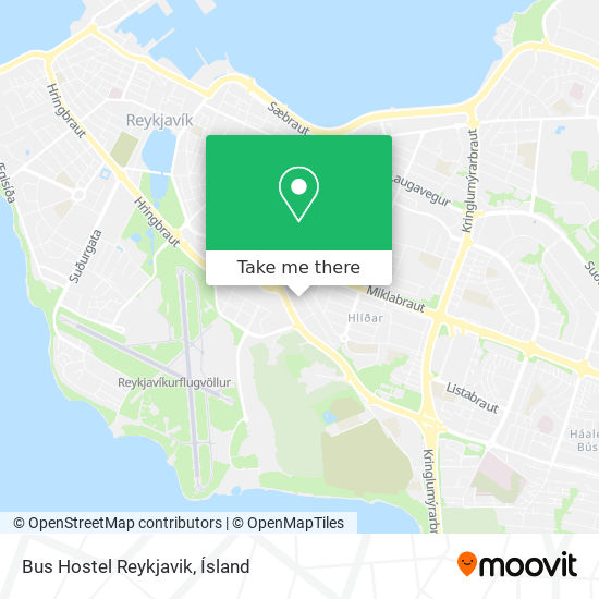 Bus Hostel Reykjavik map