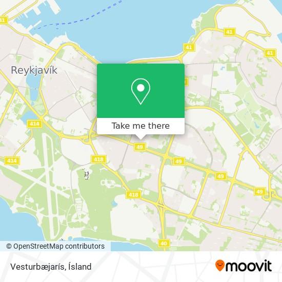 Vesturbæjarís map