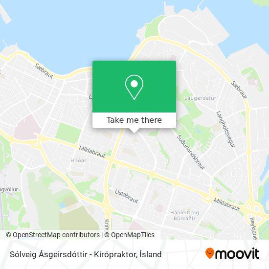 Sólveig Ásgeirsdóttir - Kírópraktor map