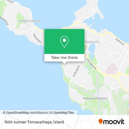 Róló sunnan Tómasarhaga map
