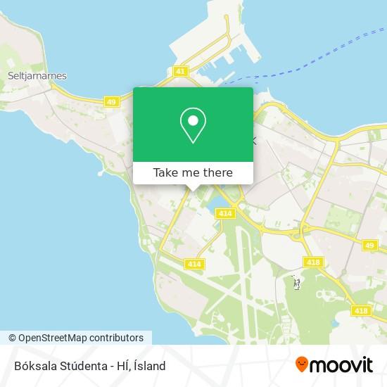 Bóksala Stúdenta - HÍ map