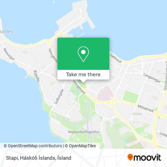Stapi, Háskóli Íslands map