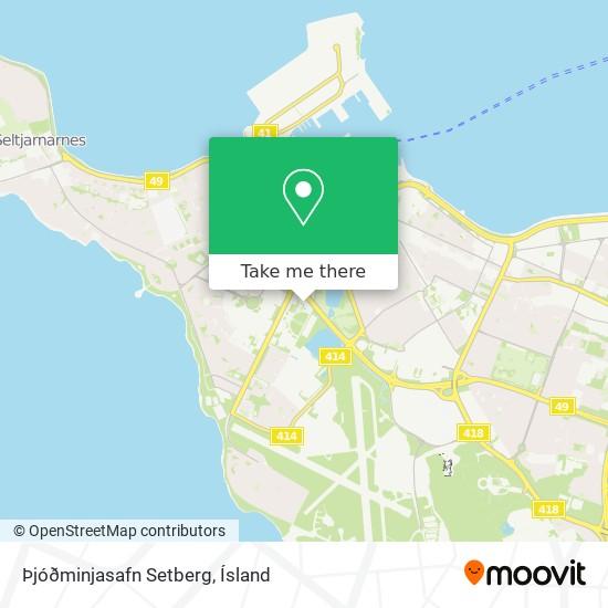 Þjóðminjasafn Setberg map