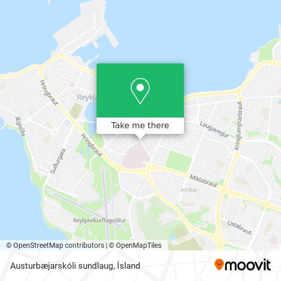 Austurbæjarskóli sundlaug map