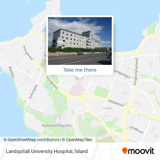 Landspitali University Hospital map