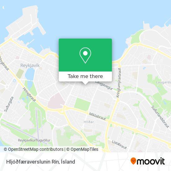 Hljóðfæraverslunin Rín map