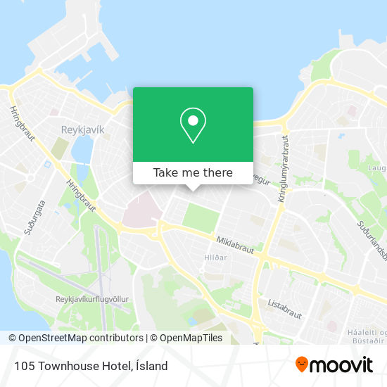 105 Townhouse Hotel map