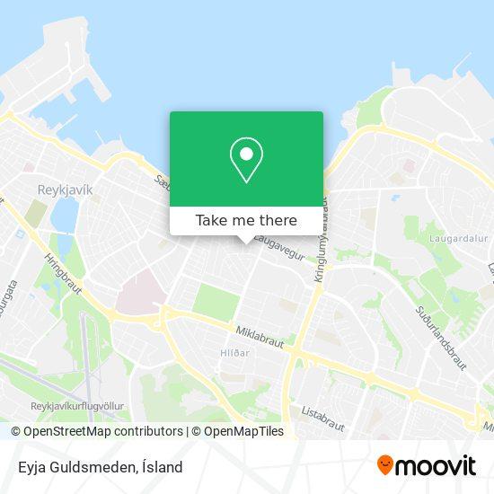 Eyja Guldsmeden map
