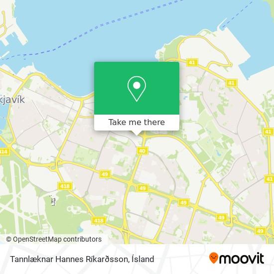 Tannlæknar Hannes Ríkarðsson map