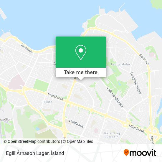 Egill Árnason Lager map