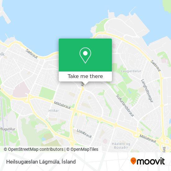 Heilsugæslan Lágmúla map