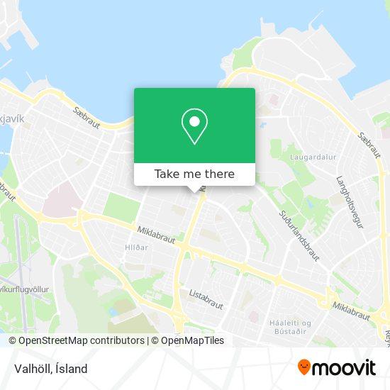 Valhöll map