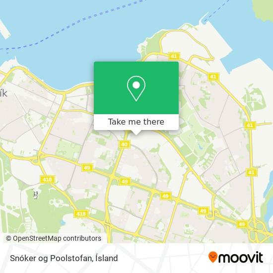 Snóker og Poolstofan map