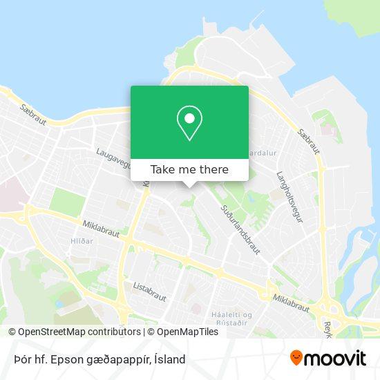 Þór hf. Epson gæðapappír map