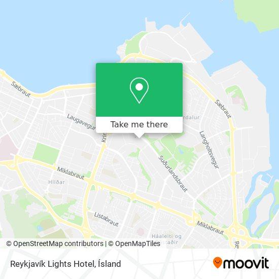 Reykjavík Lights Hotel map