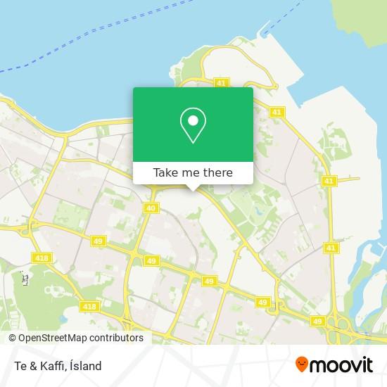 Te & Kaffi map