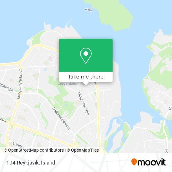 104 Reykjavík map