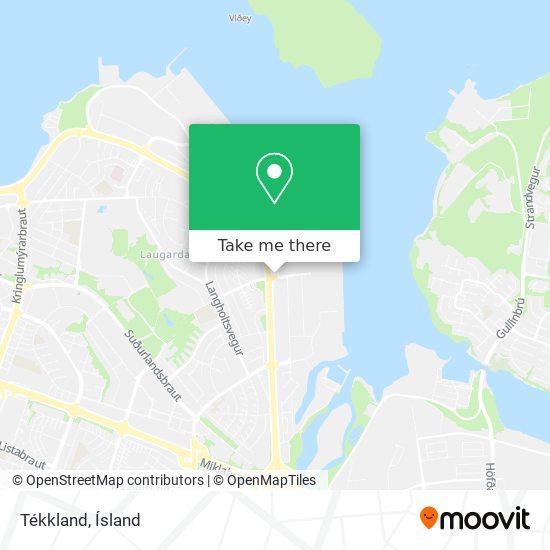 Tékkland map