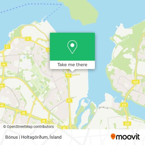 Bónus  Holtagörðum map