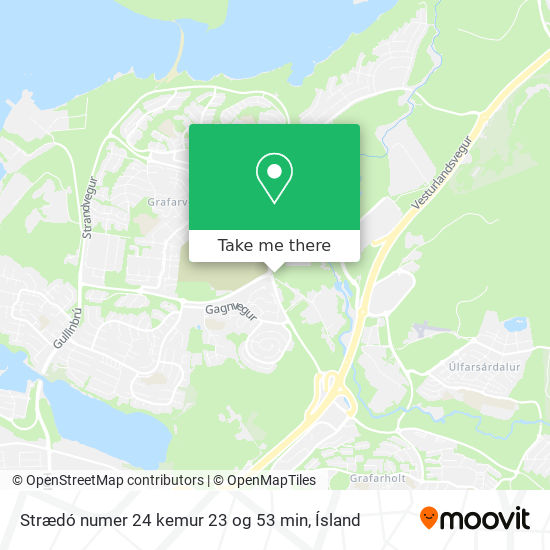 Strædó numer 24 kemur 23 og 53 min map