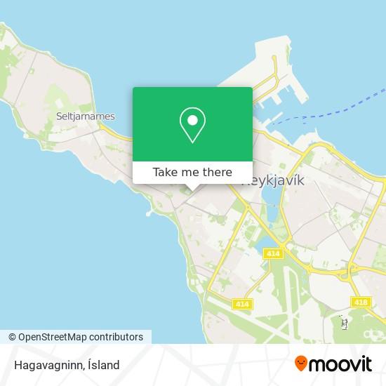 Hagavagninn map