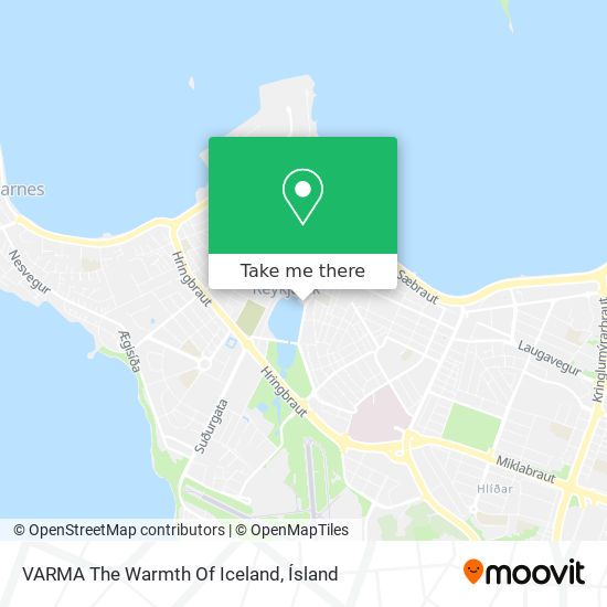 VARMA The Warmth Of Iceland map