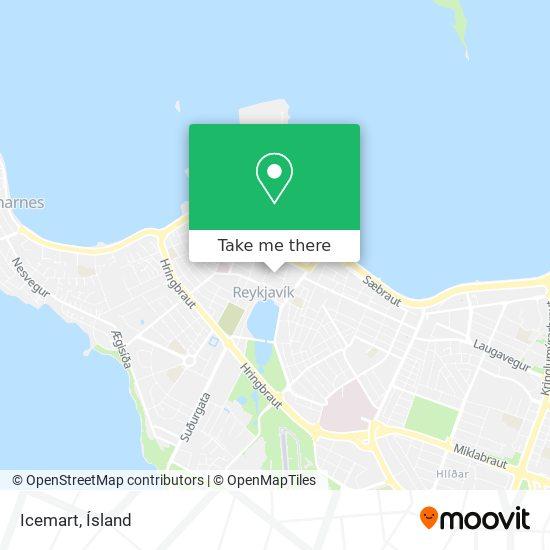 Icemart map